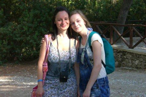 FOTKA - švagrová Ivanka a neteř Terezka