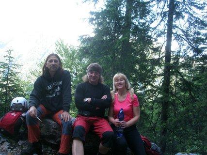 FOTKA - Andy, Karel a manžel v Alpách.