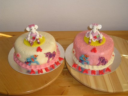 FOTKA - dort myška balerina-pro dvojčátka