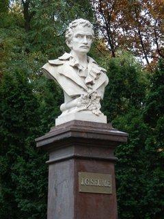 FOTKA - Teplice - busta básníka Johanna Gottfrieda Seumeho, který ve městě zemřel v roce 1810