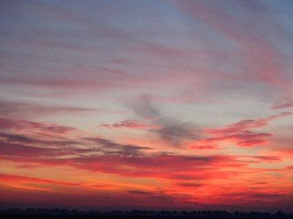 FOTKA - 24.11.2013 obloha do červena.