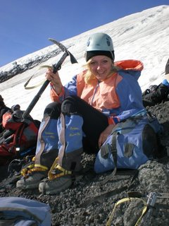 FOTKA - bráchovy fotky z cest - ledovec, Patagonie, Aurora před výstupem na ledovec