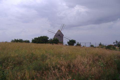 FOTKA - větrný mlýn Starý Poddvorov, Hodonínsko