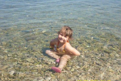 FOTKA - Prvý krát v mori......