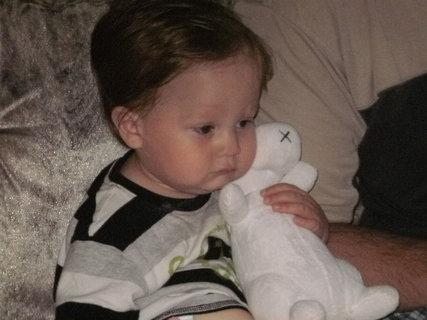 FOTKA - vnouček s Bobkem