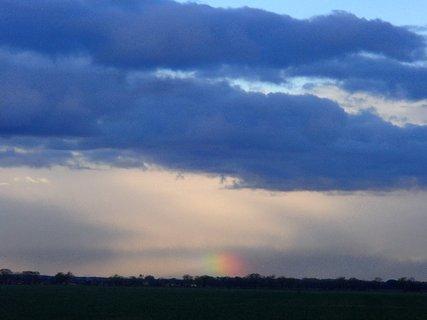 FOTKA - neskôr mraky dúhu celú zakryli