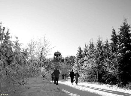 FOTKA - zimní Pustevny - pohled na Cyrilku