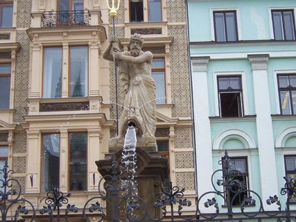 FOTKA - kašna na náměstí v  Liberci - detail