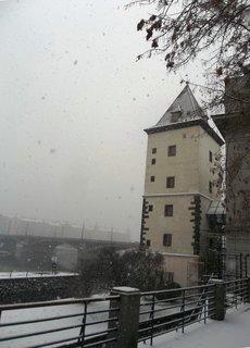 FOTKA - v pondělí v Praze sněžilo
