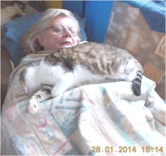 FOTKA - spíme takto skoro denně spolu, fotil manžel
