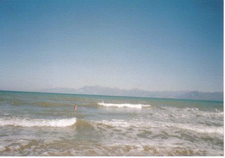 FOTKA - výhled na moře na Korfu