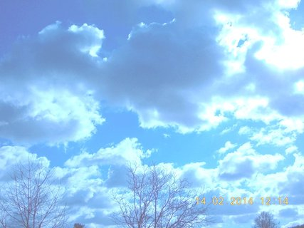 FOTKA - sluníčko se snažilo prodrat mezi mraky