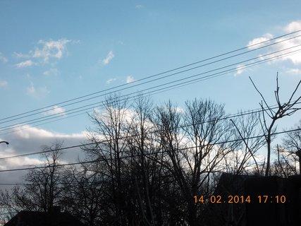 FOTKA - mraky za stromy-1