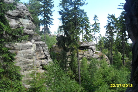 FOTKA - Výhled ze Skalního bludiště na Ostaši