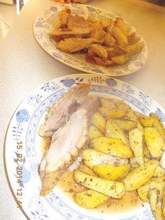 FOTKA - kach.prsa, opečené brambory