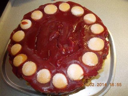 FOTKA - ovocný dortík s ovocným pudinkem