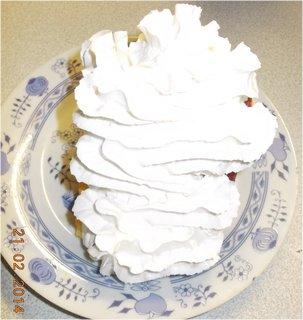 FOTKA - ovocný dortík s ovocným pudinkem-4 a šlehačkou