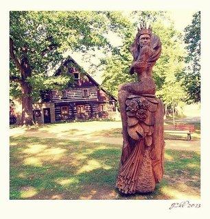 FOTKA - máchův kraj - Staré splavy- socha Královny