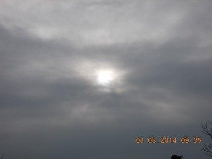 FOTKA - včera se snažilo sluníčko, ale nepodařilo se