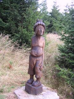 FOTKA - Dřevěná socha...