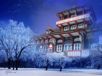FOTKA - Libušín v zimě 1