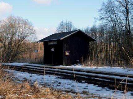 FOTKA - Vlaková zastávka Soumarského rašeliniště