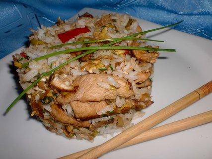 FOTKA - Rýže v čínském stylu s krůtím masem