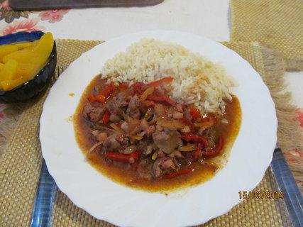 FOTKA - Kuřecí játra s rýží
