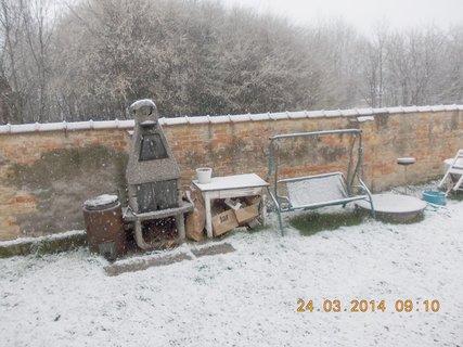 FOTKA - sněhové jarní překvapení