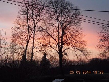FOTKA - krásné nebe v barvě do ruda