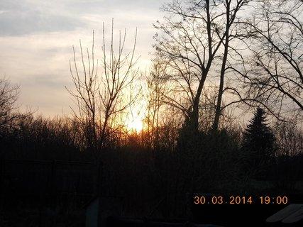 FOTKA - včerejší západ slunce