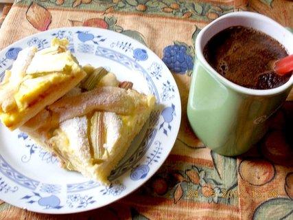FOTKA - koláč ke kávě mřížkový s tvarohem