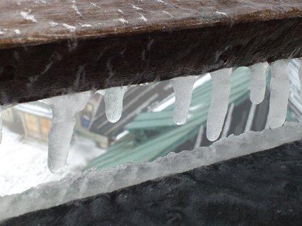 FOTKA - rozhledna na Klínovci - rampoušky, detail