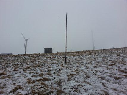 FOTKA - vrtule, mlha, sněhový poprašek
