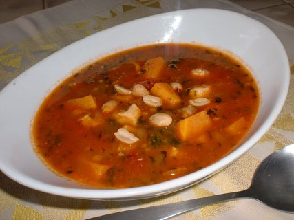 FOTKA - Africká polévka s batáty a arašídy