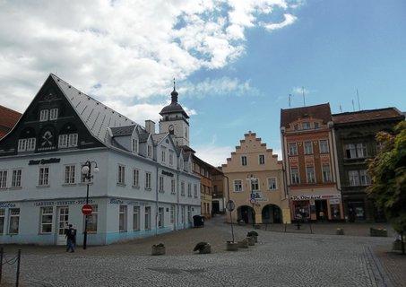FOTKA - Česká Kamenice..pohled z náměstí