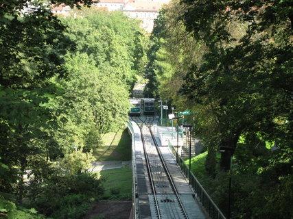 FOTKA - Lanová dráha  - ze  stanice Petřín