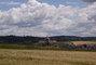 krajina na Žďársku (v dálce sv.Jan Nepomucký na Zelené hoře u Žďáru)