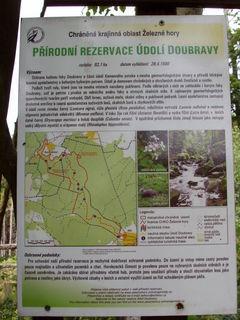 FOTKA - Naučná stezka údolím Doubravy - informační tabule