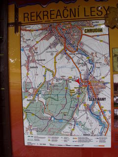 FOTKA - mapa Slatiňany a okolí