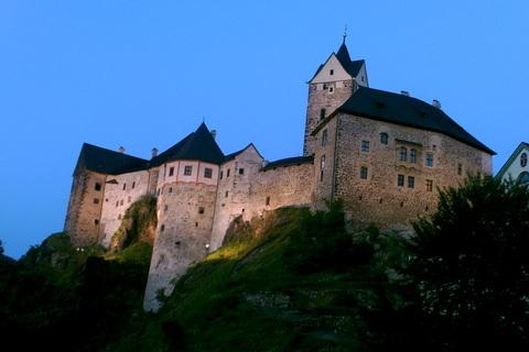 FOTKA - Noční hrad Loket