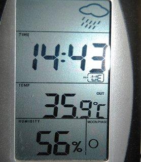 FOTKA - dnešní teplota v Ostravě 11.6.2014