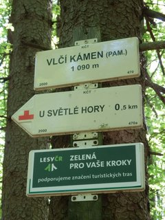 FOTKA - Vlčí kámen u Lipky - rozcestník