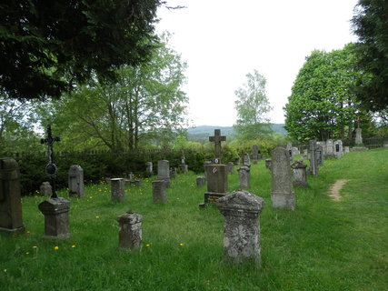 FOTKA - Knížecí Pláně (Fürstenhut)- obnovený hřbitov v místě býv. obce, vysídlené po II. sv.válce