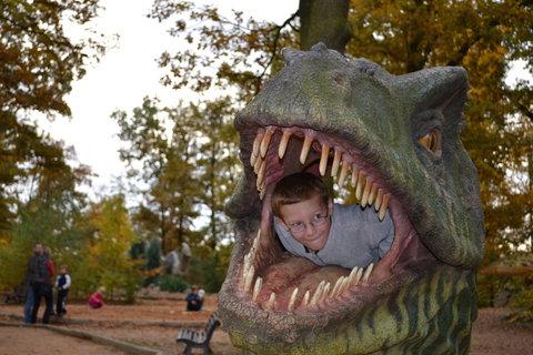 FOTKA - Honza v dinosauří hlavě