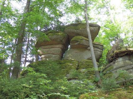 FOTKA - šumavské toulky - co příroda vytvořila -  skály poblíž Jelení slati