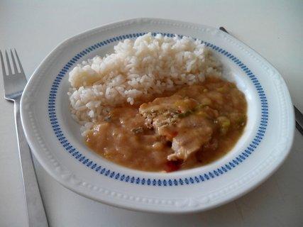 FOTKA - kuřecí roláda a rýže