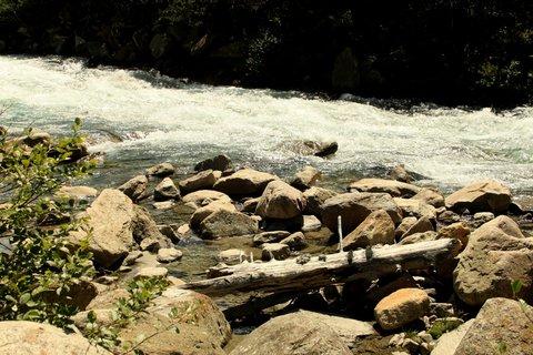 FOTKA - Krimmlerské vodopády a Achental - Kmen v říčce