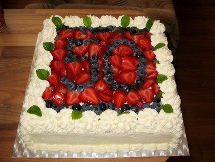FOTKA - Smetanovo-ovocný dort k narozeninám (50)