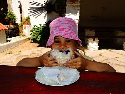 FOTKA - ...tradiční borůvkové knedlíky tu neměli, tak byl borůvkový obr koláč
